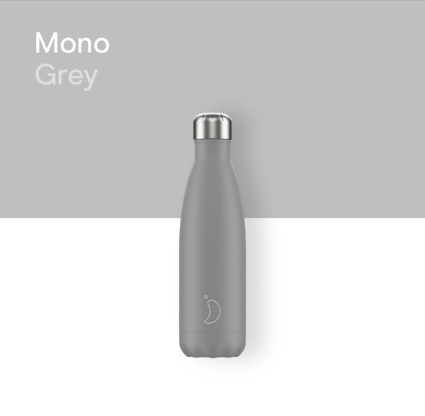 Chilly's plain bottle 500ml - Mono Grey