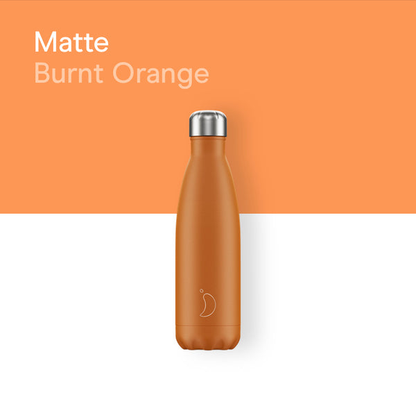 Chilly's plain bottle 500ml - Matte burnt orange