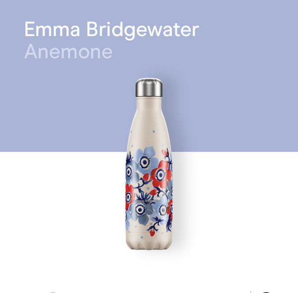 Chilly's Emma Bridgewater bottle 500ml - Anemone