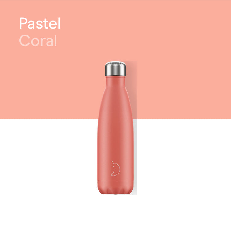 Chilly's plain bottle 500ml - Pastel coral