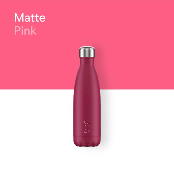 Chilly's plain bottle 500ml - Matte pink