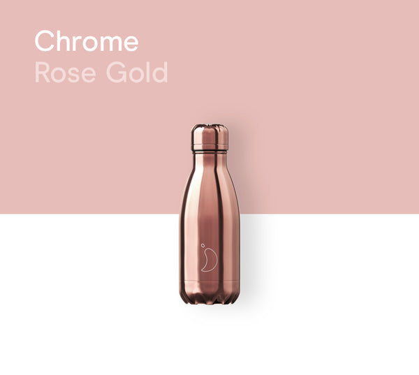 Chilly's plain bottle 260ml - Metals rose gold