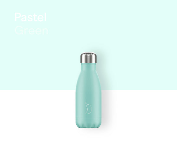 Chilly's plain bottle 260ml - Pastel green