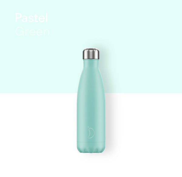 Chilly's plain bottle 500ml - Pastel green