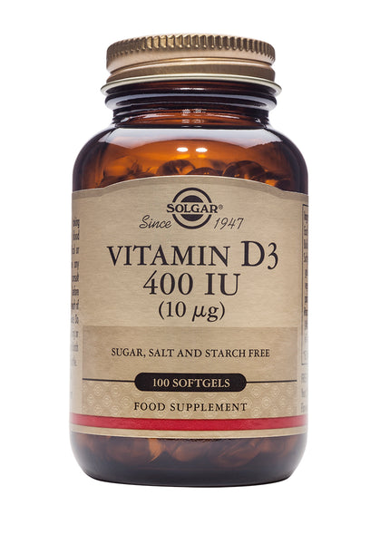 Solgar Vitamin D3 400 IU (10 g) Softgels