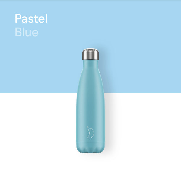 Chilly's plain bottle 500ml - Pastel blue