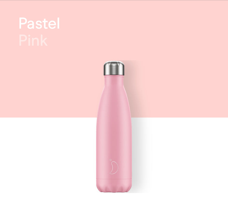 Chilly's plain bottle 500ml - Pastel pink