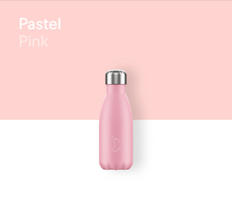 Chilly's plain bottle 260ml - Pastel pink