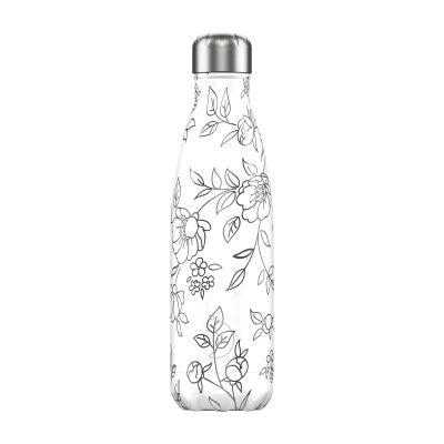 Chilly's 500ml Line Art Floral
