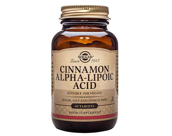 Solgar Cinnamon Alpha-Lipoic Acid Tablets