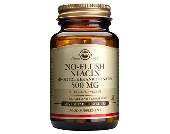 Solgar No-Flush Niacin 500 mg (Inositol Hexanicotinate)