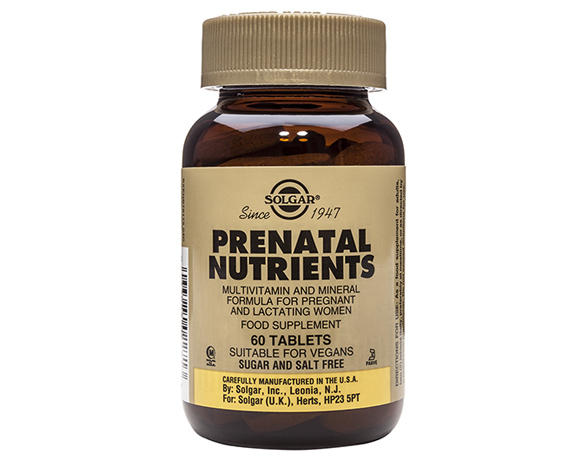 Solgar Prenatal Nutrients Tablets