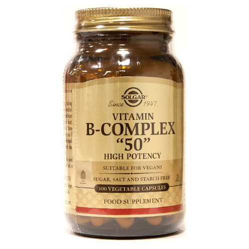 Solgar Vitamin B-Complex 50 High Potency VegCaps