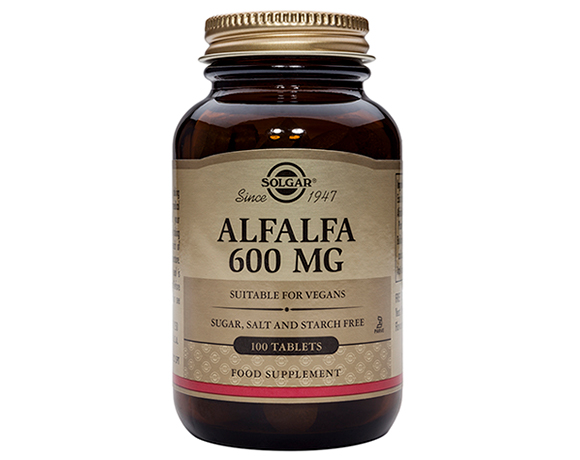 Solgar Alfalfa 600 mg 100 Tablets