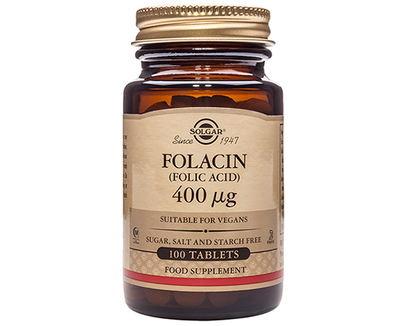 Solgar Folacin 400 g (Folic Acid) Tablets