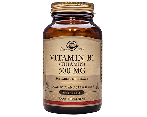 Solgar Vitamin B1 500 mg (Thiamin) Tablets