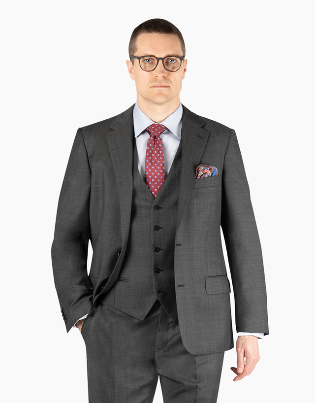 Lennon Charcoal Nailhead Suit