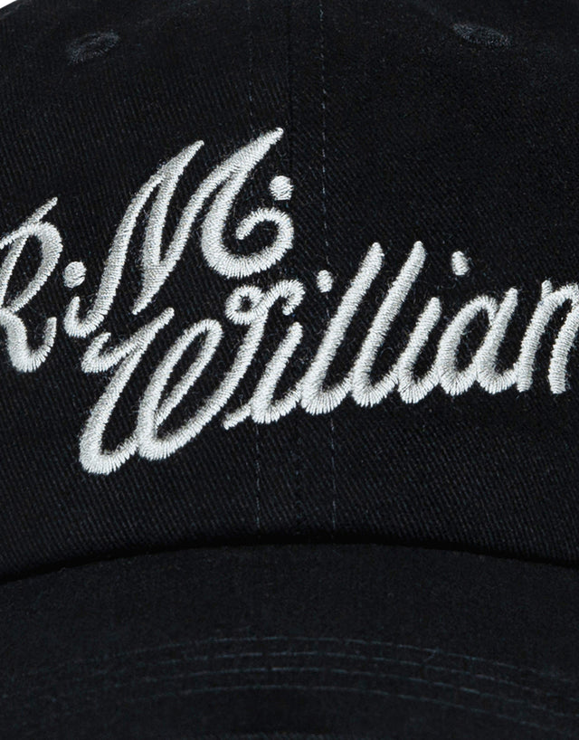 R.M. Williams Script Black and Silver Cap