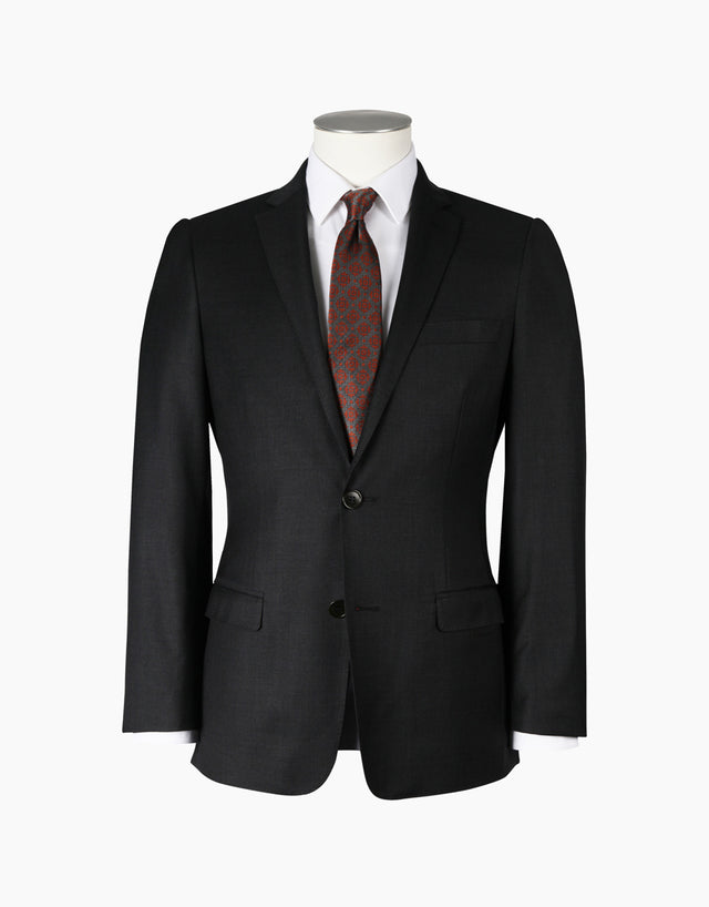 Proto Charcoal Twill Suit Jacket