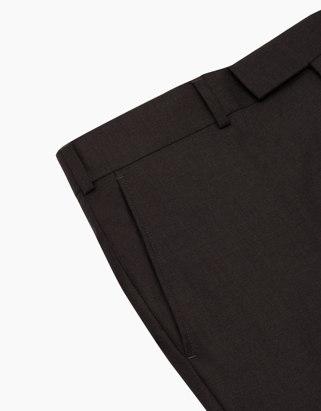 Punk Charcoal Twill Suit Trouser