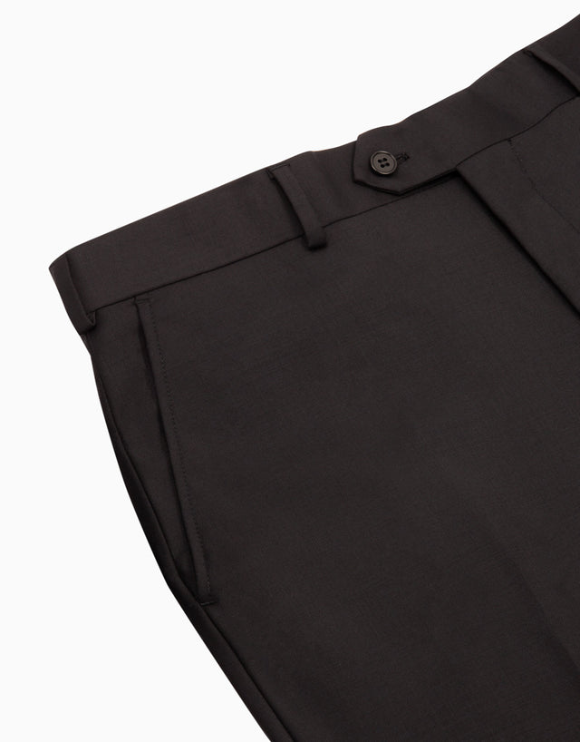 Hollywood Black Twill Suit Trouser