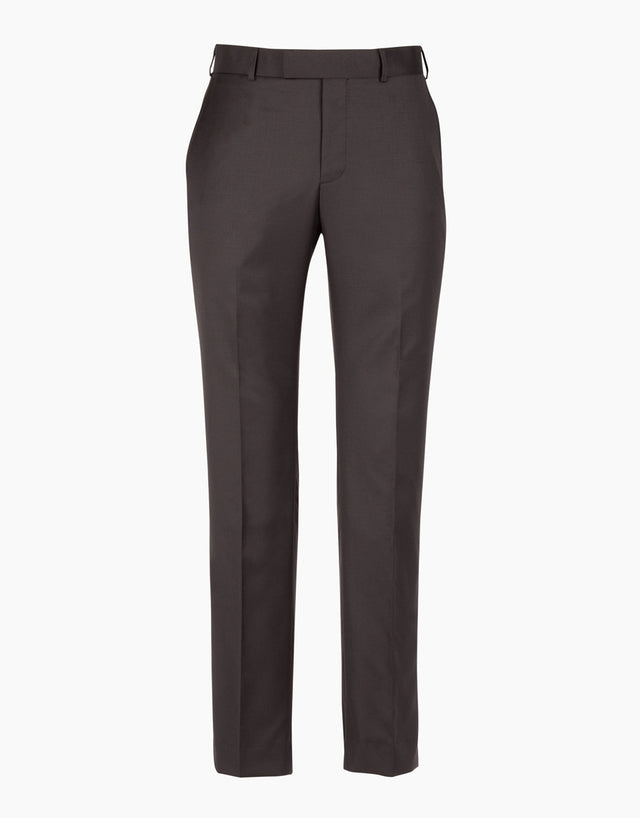 Punk Black Twill Suit Trouser