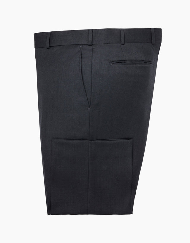 Hollywood Charcoal Twill Suit Trouser