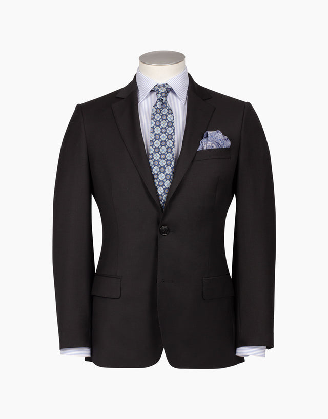 Lewis Black Twill Suit Jacket