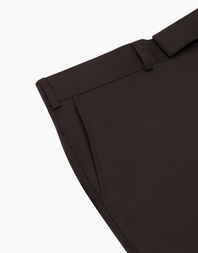 Astor Black Twill Suit Trouser