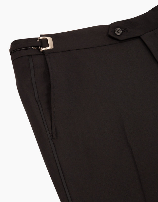 Fairbanks Black Formal Suit Trouser