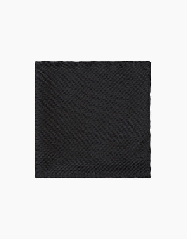 Black Texture Pocket Square