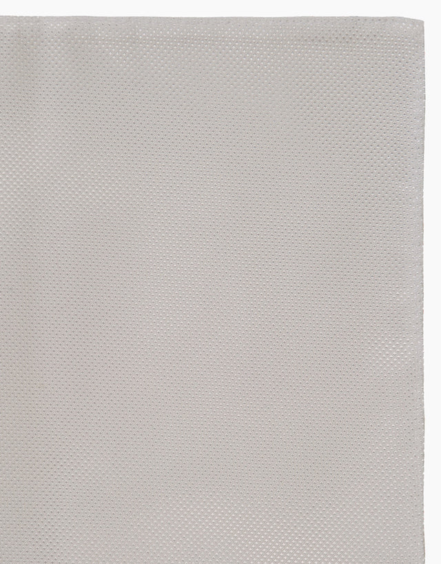 White Texture Pocket Square