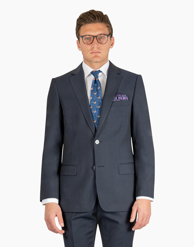 Lewis Navy Contrast Twill Suit Jacket
