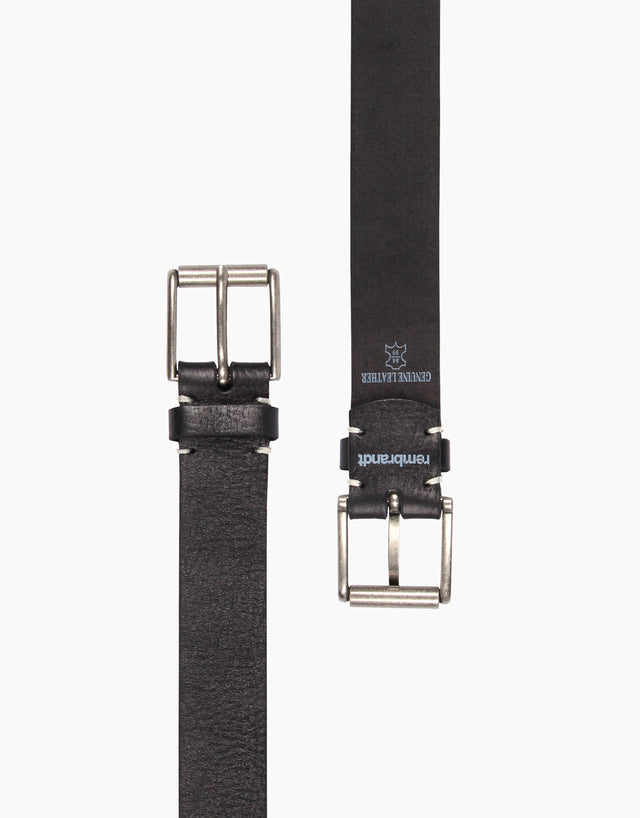 Lex Black Leather Belt