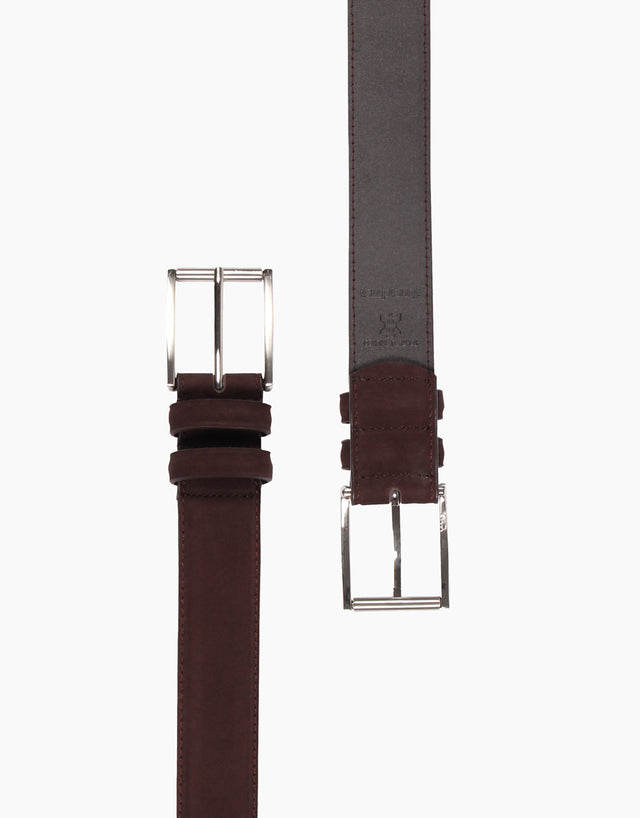 Monk Chocolate Nubuck Belt
