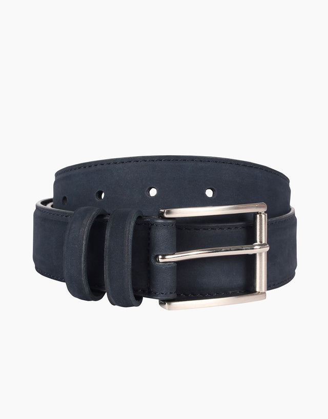Monk Navy Nubuck Belt