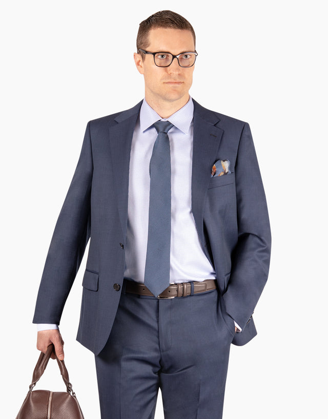 Lennon Blue Nailhead Suit Jacket