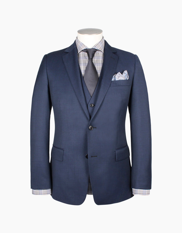 Lennon Blue Nailhead Suit
