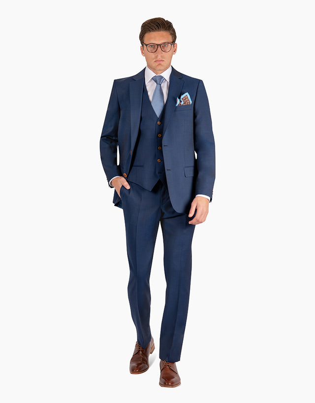 Astor Blue Contrast Twill Suit Trouser
