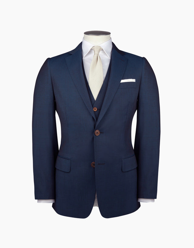 Taylor Blue Contrast Twill Suit Jacket