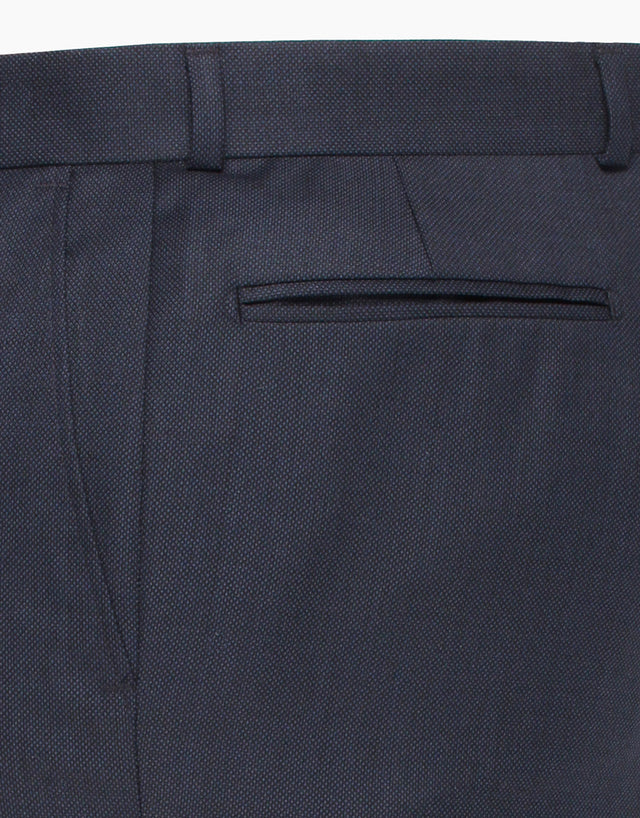 Lotus Navy Birdseye Suit Trouser