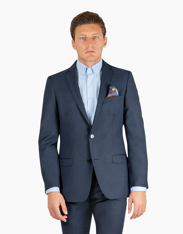 Proto Navy Birdseye Two Piece Suit