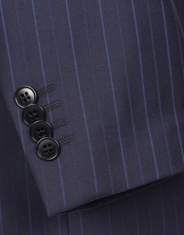 Cooper navy stripe suit