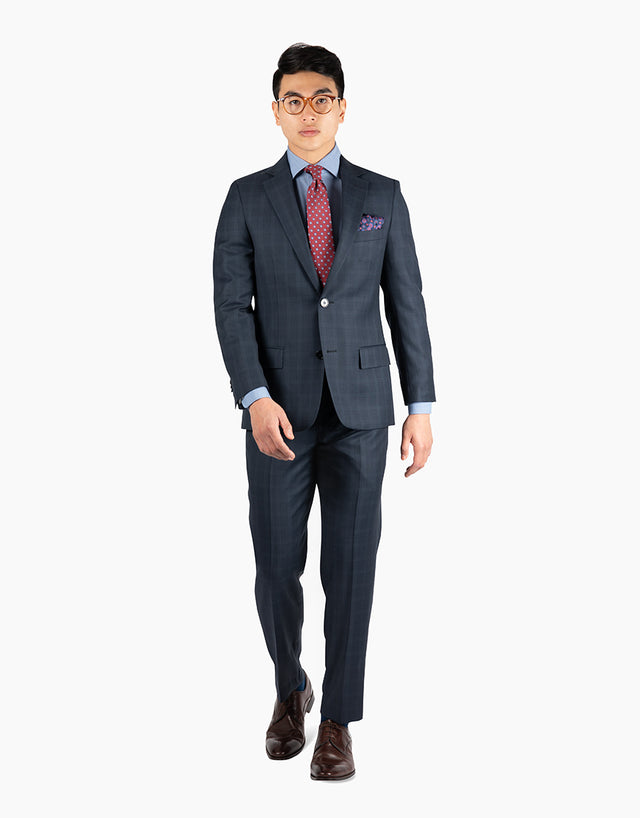 Cooper Navy Birdseye Check Suit