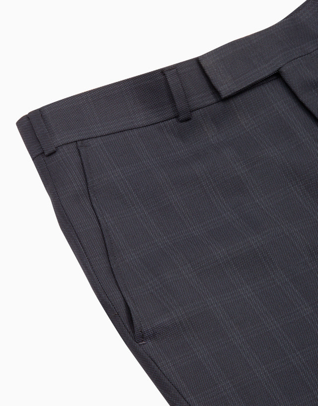 Lotus Navy Birdseye Check Suit Trouser