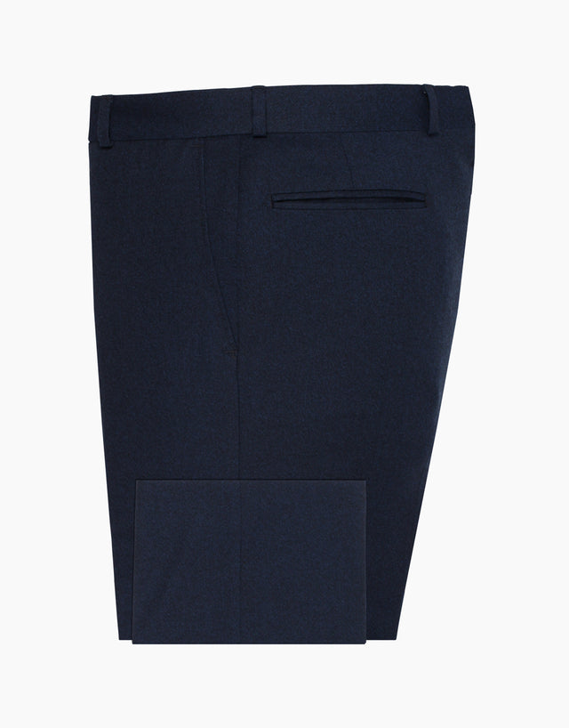 Lotus Navy Brush Twill Flannel Trouser