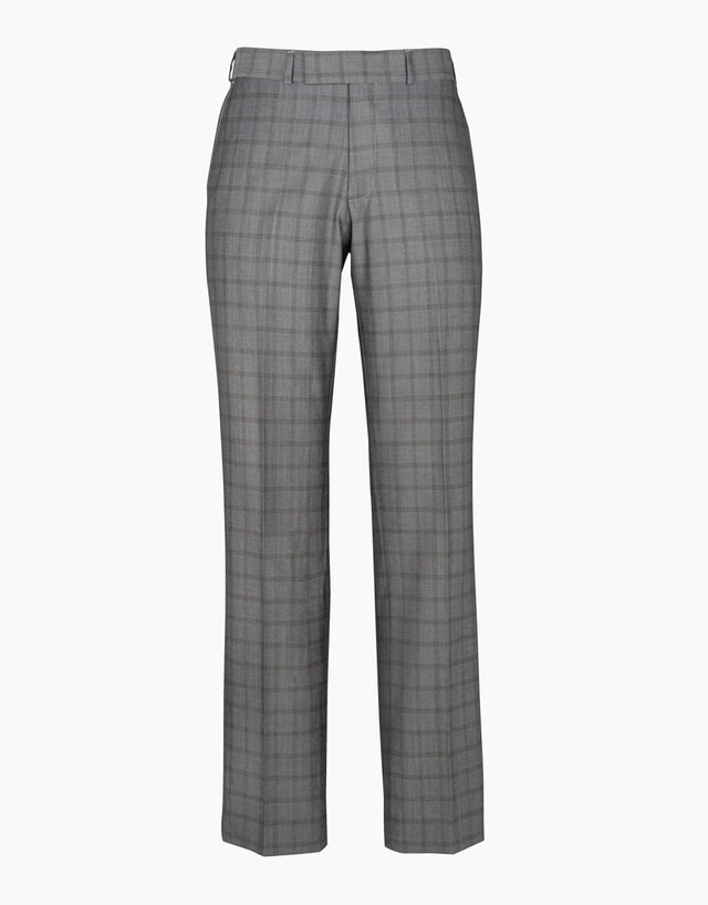 Lotus Light Grey Check Suit Trouser