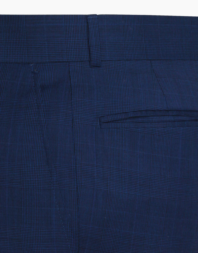 Lotus blue check trouser