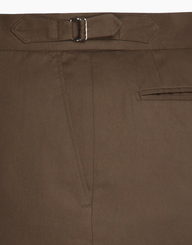 Venice Brown Twill Washed Trouser