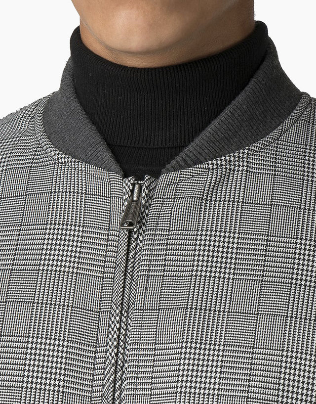 Ben Sherman Checked Black Bomber